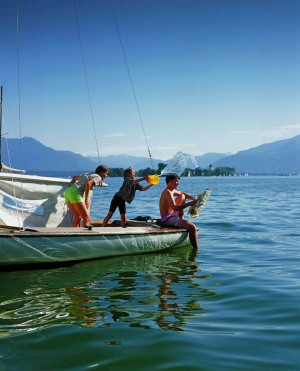 Fun on the water on Lake Chiemsee