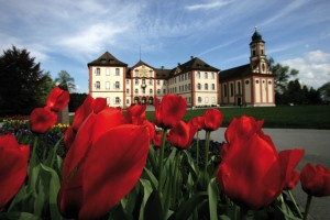 Mainau Palace in spring
