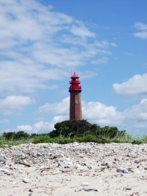 Flügger lighthouse can be seen from many points on the island.