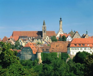 Rothenburg ob der Tauber: view of the town