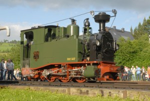 I K 54 a replica of the first Saxon narrow-gauge steam train