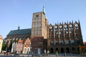 Stralsund Town Hall and St. Nicholas' Church (St. Nikolai Kirche)