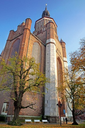 European brick Gothic Route - St. Marien Church in Stralsund