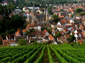 Heppenheim vineyards and old quarter