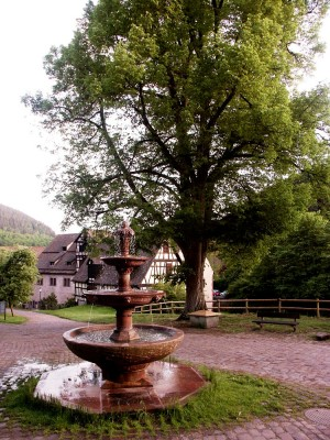 Fountain in abbey