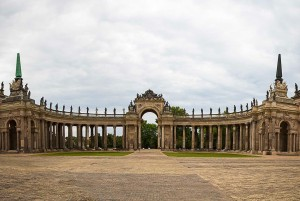 Queen Luise Route - Panorama New Palais in Potsdam