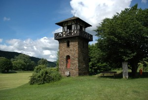 Roman tower in Rheinbrohl at the start of the Limes