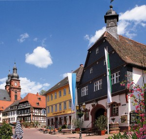 Amorbach: old town hall/market square