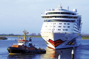 The Meyer Werft shipyard in Papenburg: Aida