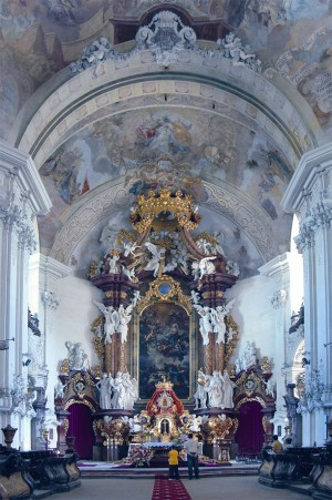 Interior view of Grüssau Abbey in Church of the Knight's Chapter Bad Wimpfen (Ritterstift)