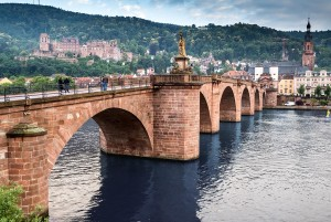Castle Road-Old Bridge and castle in Heidelberg