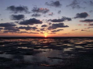 Sunset over the Wadden Sea