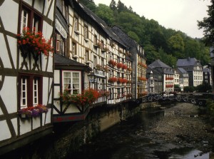 Buildings in the historical old quarter, Monschau