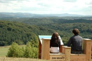 View of the Eifel region from 'Kalvarienberg Hill' viewpoint