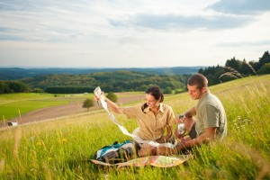 Picnicking on Schönscheid hill near Bad Endbach