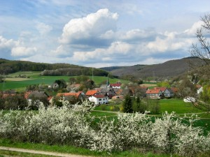 View of the village of Diedenshausen