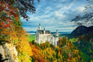 Beautiful view of Castle Neuschwanstein