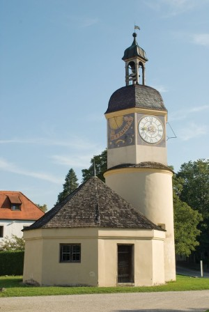 Burghausen Castle, turret clock in the courtyard