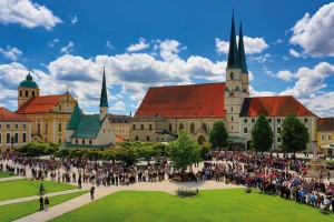 Pilgrims at Kapellplatz (Chapel Square) in Altötting