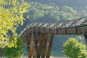 Altmühl Valley Nature Park: Tatzelwurm bridge, Europe's longest wooden bridge