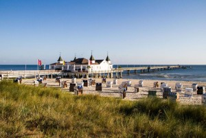 Pier in the seaside resort of Ahlbeck