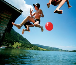 Bavaria, Kinderland Bavaria – swimming at Lake Schliersee