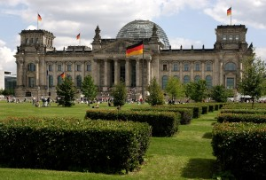 Berlin, Reichstag with lawn in front