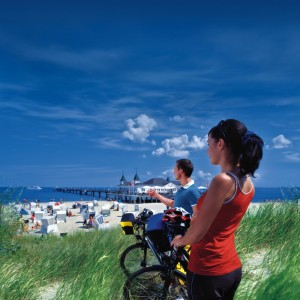 Island of Usedom, Cyclists at the pier