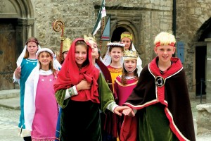 Freyburg, children's activities at Neuenburg Castle
