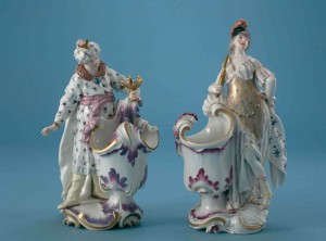 Pair of Frankenthal porcelain figurines at the Palatinate Museum