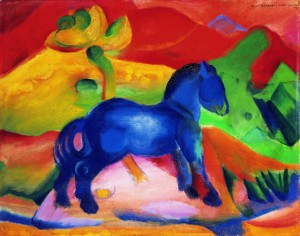 Franz Marc's 'The Little Blue Horse' in the Saarland Museum