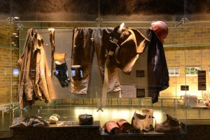 Das Erbe exhibition – 'The Last Miner' display cabinet