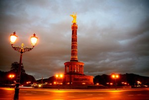 Berlin: Victory Column in the evening