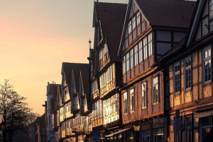 Celle: half-timbered houses on Schuhstrasse