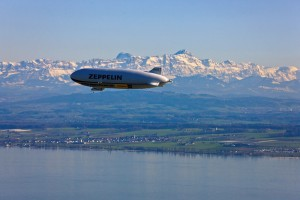 Friedrichshafen/Lake Constance: Zeppelin NT, airship with new technology
