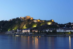 Koblenz: Ehrenbreitstein Fortress and its illuminations