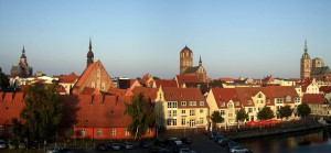 View of four churches