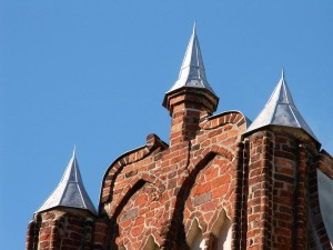 Gothic gable tops on old merchant's house on Mühlenstrasse