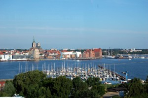 View from Dänholm island to the Ozeaneum