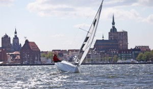 Sailing with Stralsund in the background