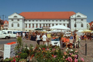 Town hall with market square