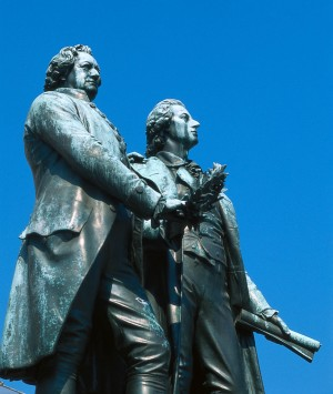 Goethe and Schiller statue