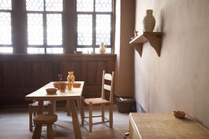 Eisleben, the furniture in Luther's birthplace is based on that of the period