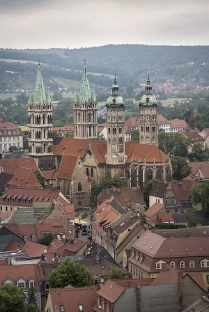 Naumburg: view over Naumburg and the Cathedral of St. Peter and St. Paul