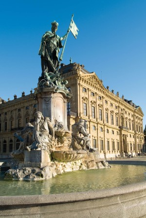 Franconia fountain in front of the Residenz Palace