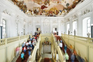 Main staircase at the Residenz Palace